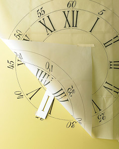Stenciled Clock Wall Decoration