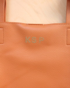 Embossed Monogram Tote Step 4