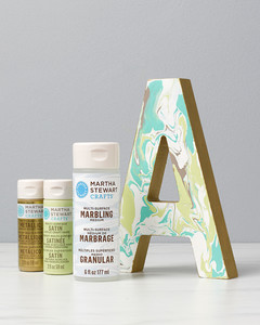 plaid marbled letter