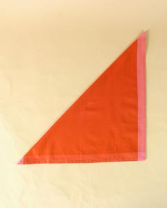 turkey folded triangle orange napkin step two