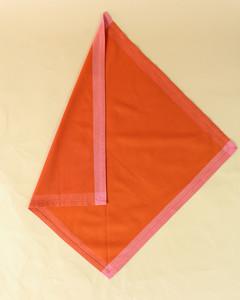 turkey folded orange napkin step three
