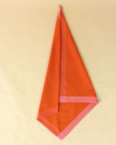 turkey left right fold orange napkin step seven