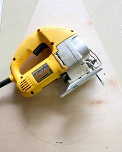 circular saw on plywood
