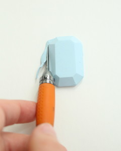 DIY gemstones cutting clay