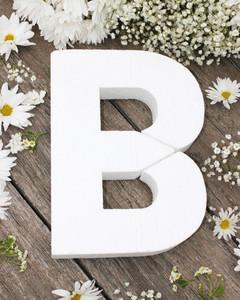 diy floral monogram step 1