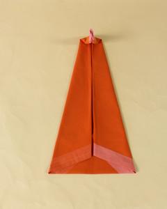 turkey head napkin orange napkin step eleven
