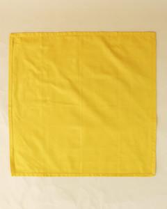 turkey unfolded yellow napkin step twelve