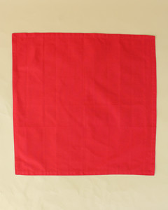 turkey unfolded red napkin step fifteen