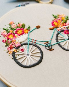 Walker Boyes bike embroidery