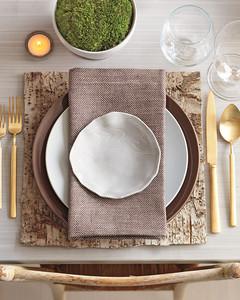 Bark Table Setting | Martha Stewart