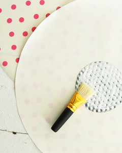 glue brush on cut out circle for travel dog bowl