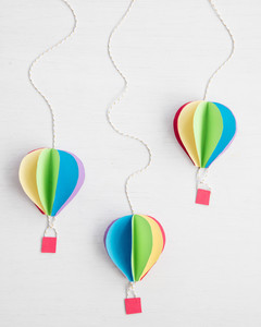 3-D Hot Air Balloon Paper Decorations | Martha Stewart