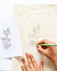 make your own embroidery patch flats step 1