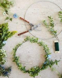 floral hoop diy