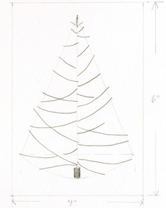 sketched christmas tree outline