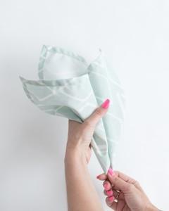 maraca napkin fold step 2