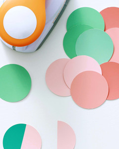 round paint swatches cut out for family tree