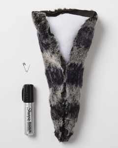 raccoon costume how-to tail