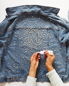 gluing-studs-on-jacket