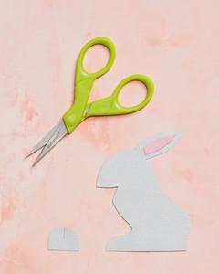 bunny place card cut