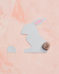 bunny place card glue