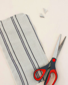 sewing bottom and sides of lavender eye pillow