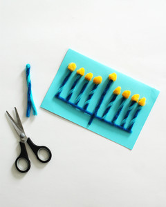 pipe cleaner Hanukkah card