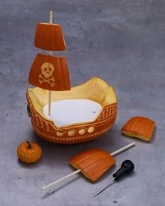 Pirate Ship Pumpkin | Martha Stewart
