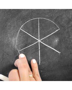 snowflake chalk art