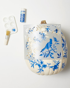 chinoiserie pumpkins step 1
