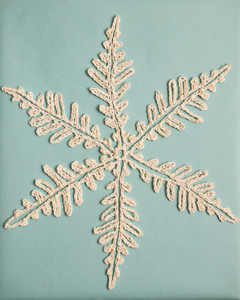 leaf-like crochet snowflake pattern 3