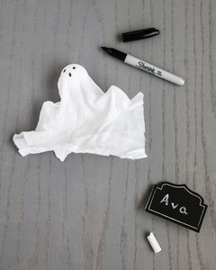 bootiful halloween cloth ghost placecard step 2