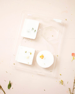 dried pressed flower soap bar molds