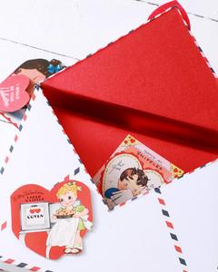 envelope valentine box containing vintage valentines