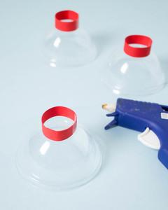 mini gum ball machine party favor glue gun how to