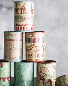 diy can toss game vintage circus