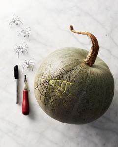 spiderweb pumpkin how-to