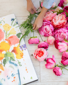 3d floral wall art & 3-D Floral Canvas Wall Art | Martha Stewart