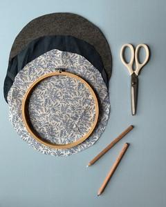 embroidery hoop organizer step 2