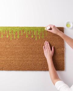 green paint doormat