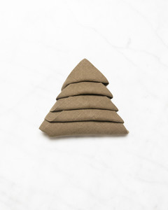 christmas tree shape folded napkin step eleven