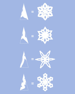 how to make paper snowflakes step seven snowflakes