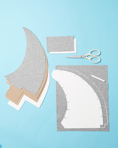 Make chipboard and felt fins using Shark Fin Templates I and II. Make a felt flap using Felt Flap Template. & Think Fin: Dog Shark Halloween Costume u0026 Video | Martha Stewart
