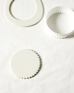 diy scalloped clay trinket dish step 2