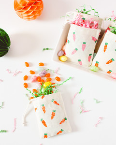 finished easter carrot treat bags
