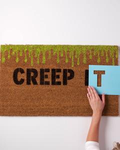 creep it real doormat stencil