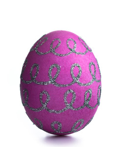 Embossed and Glittered Easter Egg Decorating Ideas