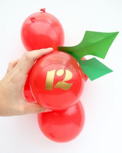 holly balloon advent calendar
