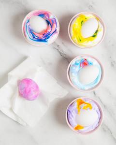 dyed easter eggs shaving cream step 4