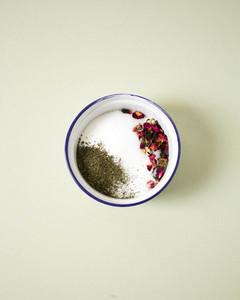 green tea and rose sugar scrub